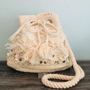 Aerie Embellished Bucket Bag/Crossbody